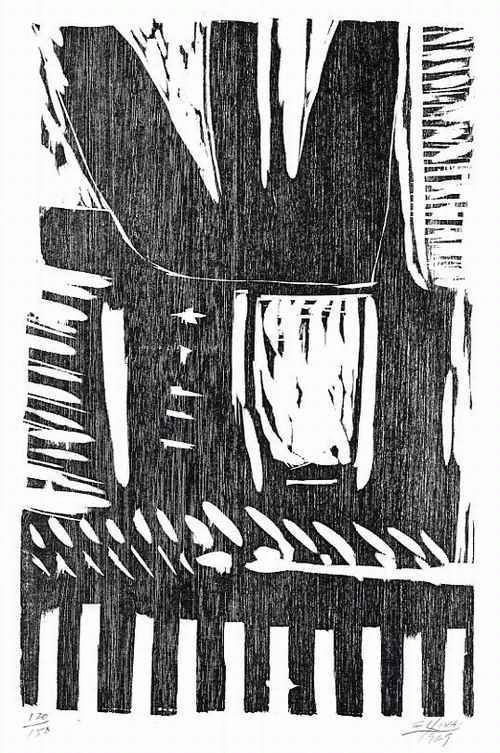 Guido Llinas - - CUBA - OriginalHolzschnitt des Künstlers aus Pinar del Río 1969 handsigniert datiert & nummeriert kopen? Bied vanaf 65!