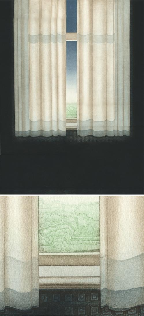 Elisabeth von Holleben - curtain, Farbradierung, 1974 kopen? Bied vanaf 135!