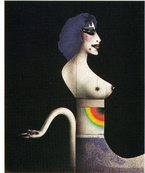 Paul Wunderlich - Dame mit Schwan, Lithografie kopen? Bied vanaf 240!