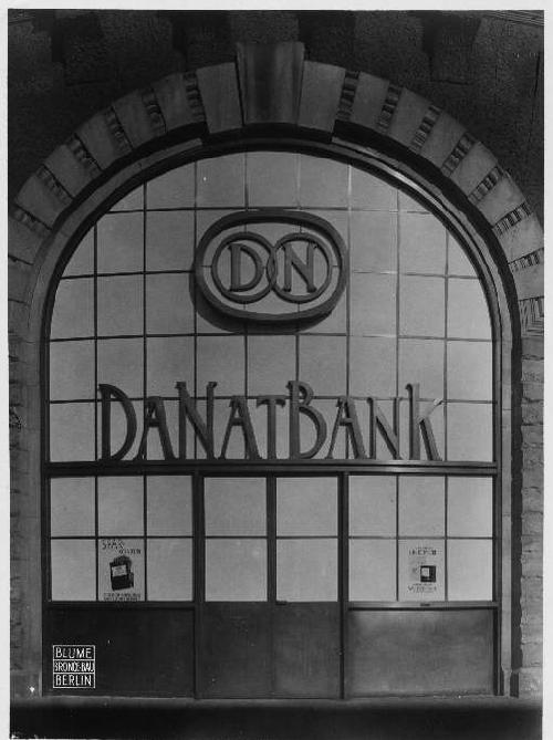 Max Krajewsky - DANATBANK Vintage um 1930 - Kontaktabzug des berühmten ARCHITEKTUR-FOTOGRAPHEN - NEUES BAUEN - kopen? Bied vanaf 120!