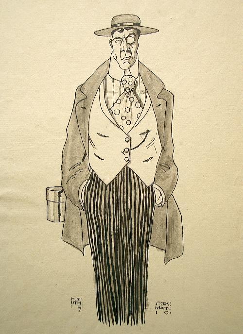 Helmuth Stockmann - Dandy aus Berlin 1910, Tuschezeichnung kopen? Bied vanaf 70!