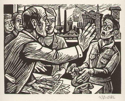 Ludwig Barth -Uchatzky - Das ANVERTRAUTE GELD - Jesus & Das GELD - Handsignierter OriginalHolzschnitt 1979 (KARLSRUHE) kopen? Bied vanaf 75!