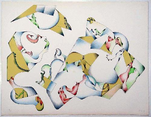 Jan Voss - - DAS BESTE KLIMA DES KONTINENTS - Farblithografie auf Bütten, handsigniert, datiert, numeriert kopen? Bied vanaf 270!
