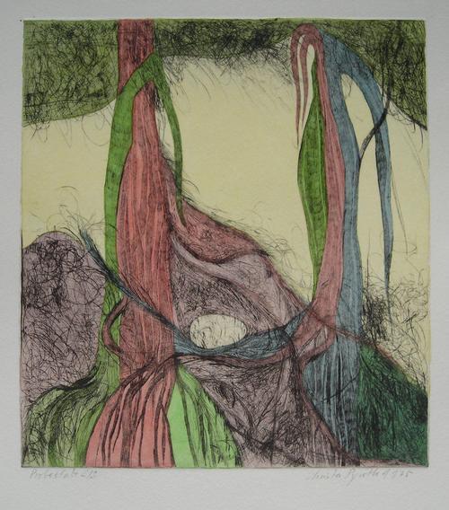 Christa Pyroth - Das Ei, aquarellierte Radierung von 1975, handsign. kopen? Bied vanaf 85!