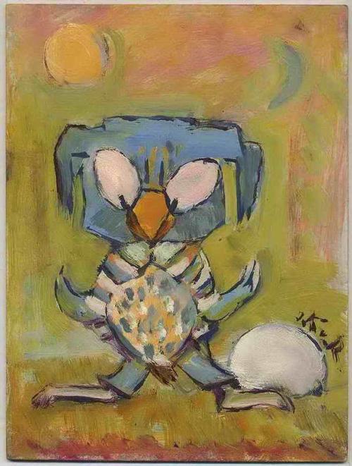 Irmgard Kaupisch von Reppert - Das EI der EULE - Original Ölmalerei der KARIKATURISTIN aus MÜNCHEN - Signiert ( Die KATAKOMBE ) kopen? Bied vanaf 120!