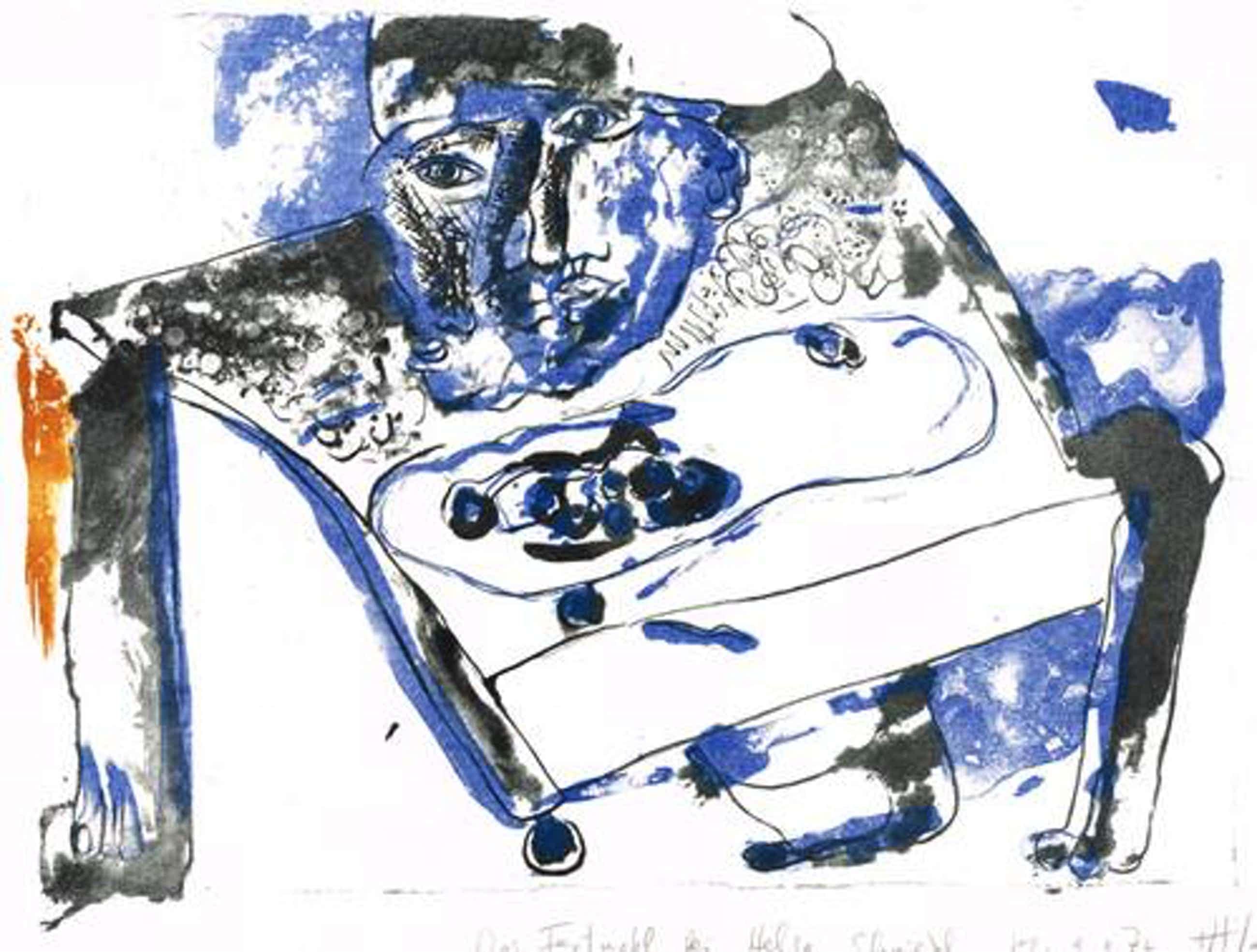 Atila Biro - Das Festmahl, Farblithographie,1972 kopen? Bied vanaf 215!