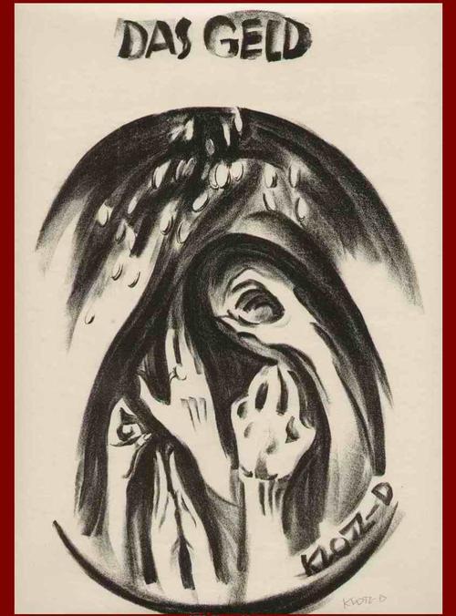 Theodor Klotz-Dürrenbach - Das GELD - Handsignierte OriginalLithographie des Staatspreisträger der WIENer SEZESSION - 1920 kopen? Bied vanaf 95!