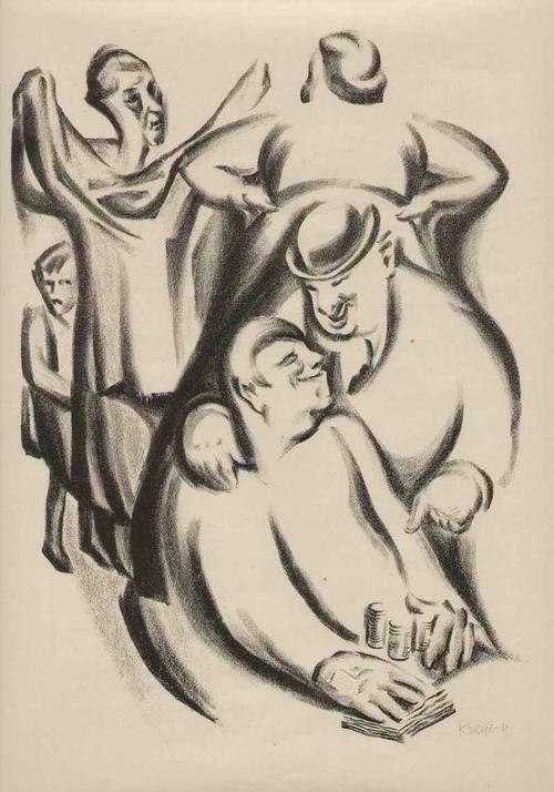 Theodor Klotz-Dürrenbach - Das GELD & Der CHRISTLICHE BAUER Handsignierte OriginalLithographie des WIENer SEZESSIONisten - 1920 kopen? Bied vanaf 95!