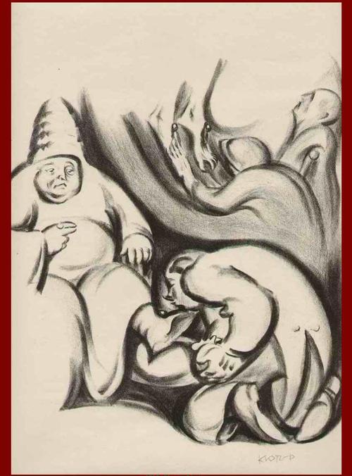 Theodor Klotz-Dürrenbach - Das GELD & der STELLVERTRETER GOTTES - Handsignierte OriginalLithographie des WIENer SEZESSIONisten kopen? Bied vanaf 95!