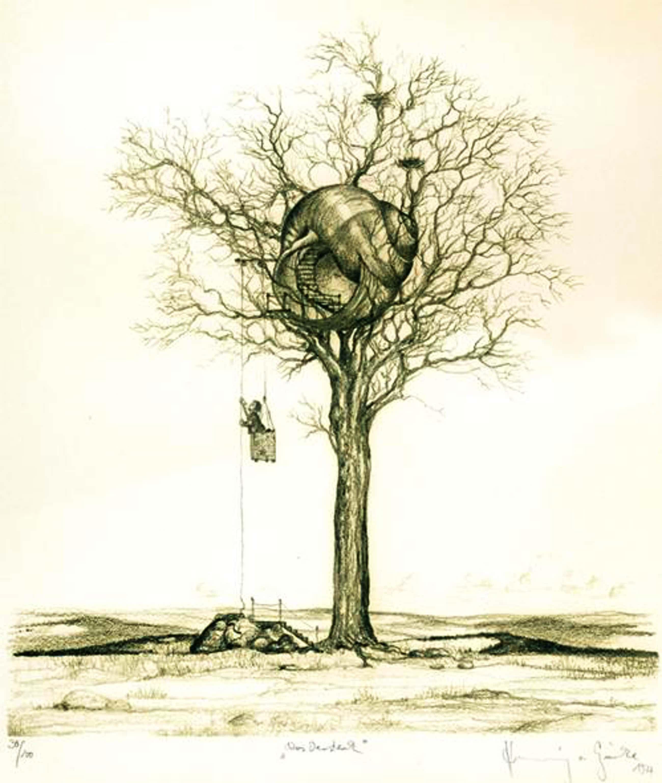 Henning von Gierke - Das Versteck, Lithografie , 1977 kopen? Bied vanaf 48!