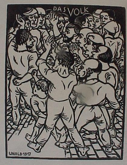 Max Unold - das Volk, Holzschnitt 1917 kopen? Bied vanaf 25!