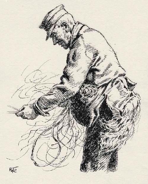 Richard Flockenhaus - Der ALTE SEILER - handsignierte OriginalFederzeichnung 1930 - KÖNIGLICH KUNSTSCHULE BERLIN kopen? Bied vanaf 75!