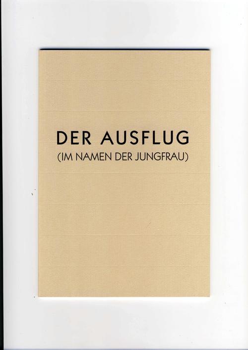 Klaus Hähner-Springmühl - DER AUSFLUG(Im Namen der Jungfrau),Katalog mit handgeschr.Gedicht v.Künstler,Ex.:22/30,1997,handsig. kopen? Bied vanaf 120!