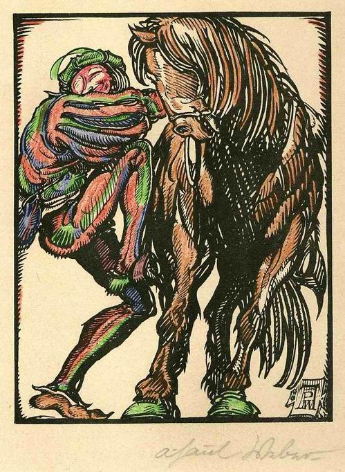 A. Paul Weber - Der FAHRENDE SCHÜLER - Handsignierter & colorierter OriginalManuldruck zu den FASTNACHTSPIELEN 1920 kopen? Bied vanaf 85!