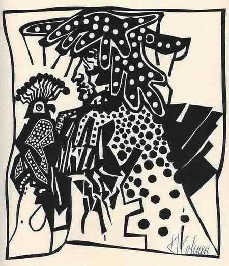 Karl Cohnen - - Der FALKNER - handsignierter OriginalLinolschnitt des AACHENers 1975 kopen? Bied vanaf 46!