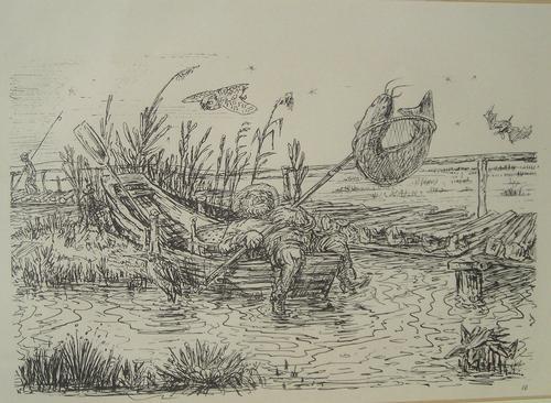 Alfred Kubin - Der Fang, Lithografie kopen? Bied vanaf 110!