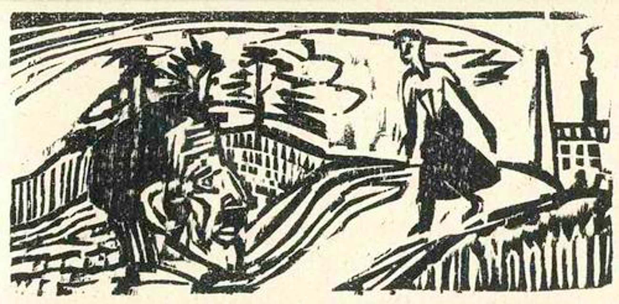 Ernst Ludwig Kirchner - Der FESTBAUER - 1922 - OriginalHolzschnitt des Expressionistischen BRÜCKE-GRÜNDERS aus ASCHAFFENBURG kopen? Bied vanaf 40!
