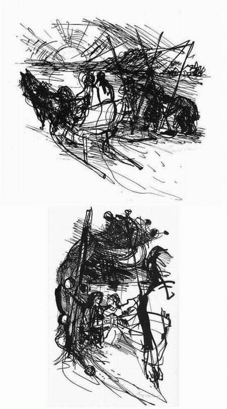 Archibald Bajorat - Der HERR der DÜNE v. Rudolf Naujok - 2 handsignierte Graphiken des MÜLLER-LINOW-Schülers1964 kopen? Bied vanaf 40!