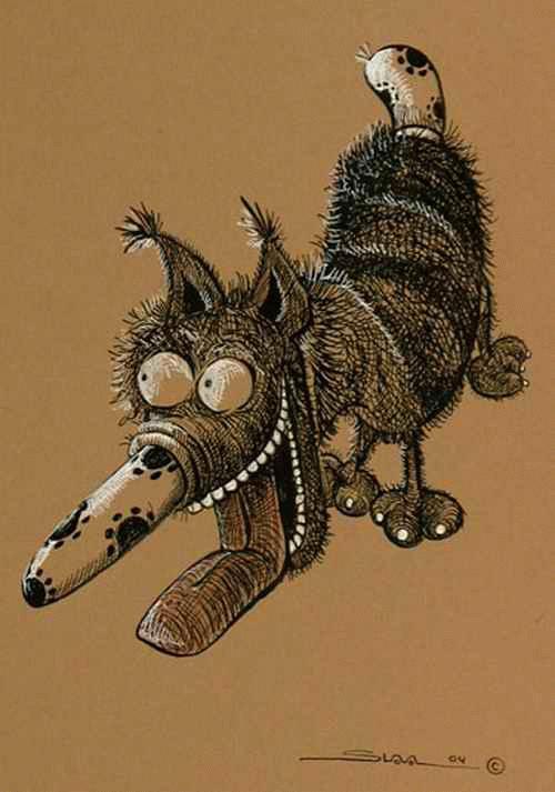 Slava Nikolajew - - Der HUND - TuschFederZeichnung des LORIOT-Gelobten RUSSISCHEN Karikaturisten a.BERLIN handsigniert kopen? Bied vanaf 65!