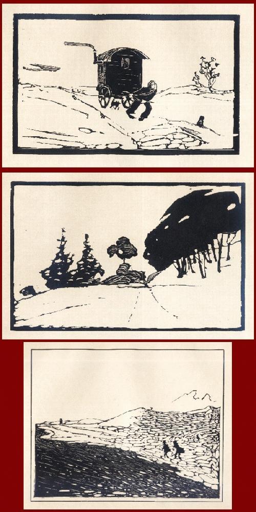 Arminius Hasemann - Der KARNER - vom SCHWARZWALD n. ANDALUSIEN - 3 OriginalHolzschnitte d. abenteuerlichen Wanderers1915 kopen? Bied vanaf 55!