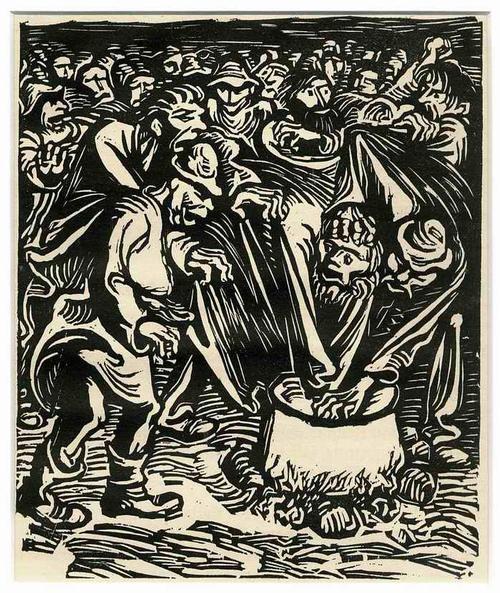 Ernst Barlach - Der KESSEL - 1922 - OriginalHolzschnitt aus der Holzschnittfolge FINDLING kopen? Bied vanaf 65!