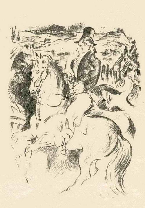 Fritz Heubner - Der REITER - Handsignierte Originallithographie des SIMPLICISSIMUS/JUGEND-Illustratoren 1923 kopen? Bied vanaf 45!