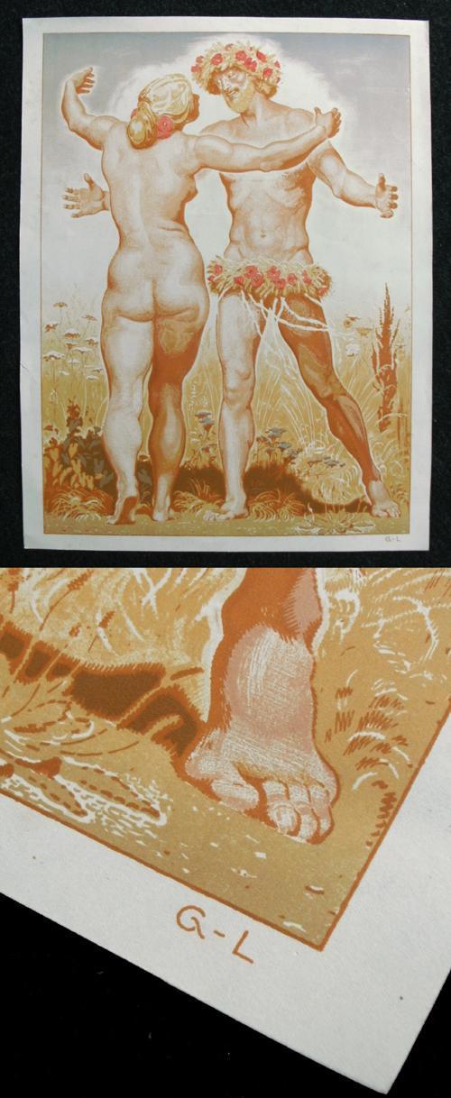 Georg Löhrig - Der Sommer. Farblithographie, 1909. kopen? Bied vanaf 120!