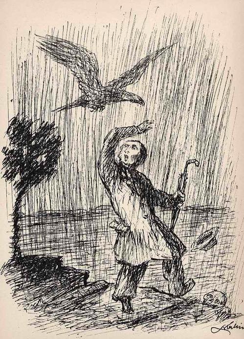 Alfred Kubin - Der TOD & Der VERBOTENE WEG - Blatt aus dem TOTENTANZ von 1947 - in d.Vorlage signierte Strichätzung kopen? Bied vanaf 30!
