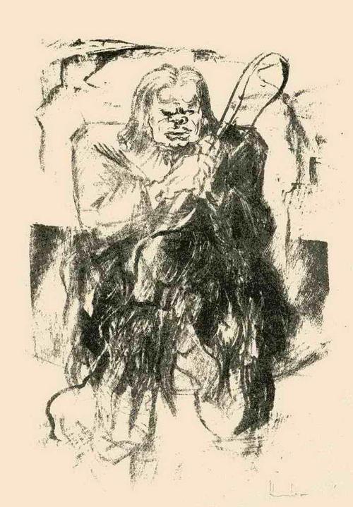 Fritz Heubner - Der WILDE KUTSCHER - 1923 - Handsignierte Originallithographie des SIMPLICISSIMUS-Illustratoren kopen? Bied vanaf 45!