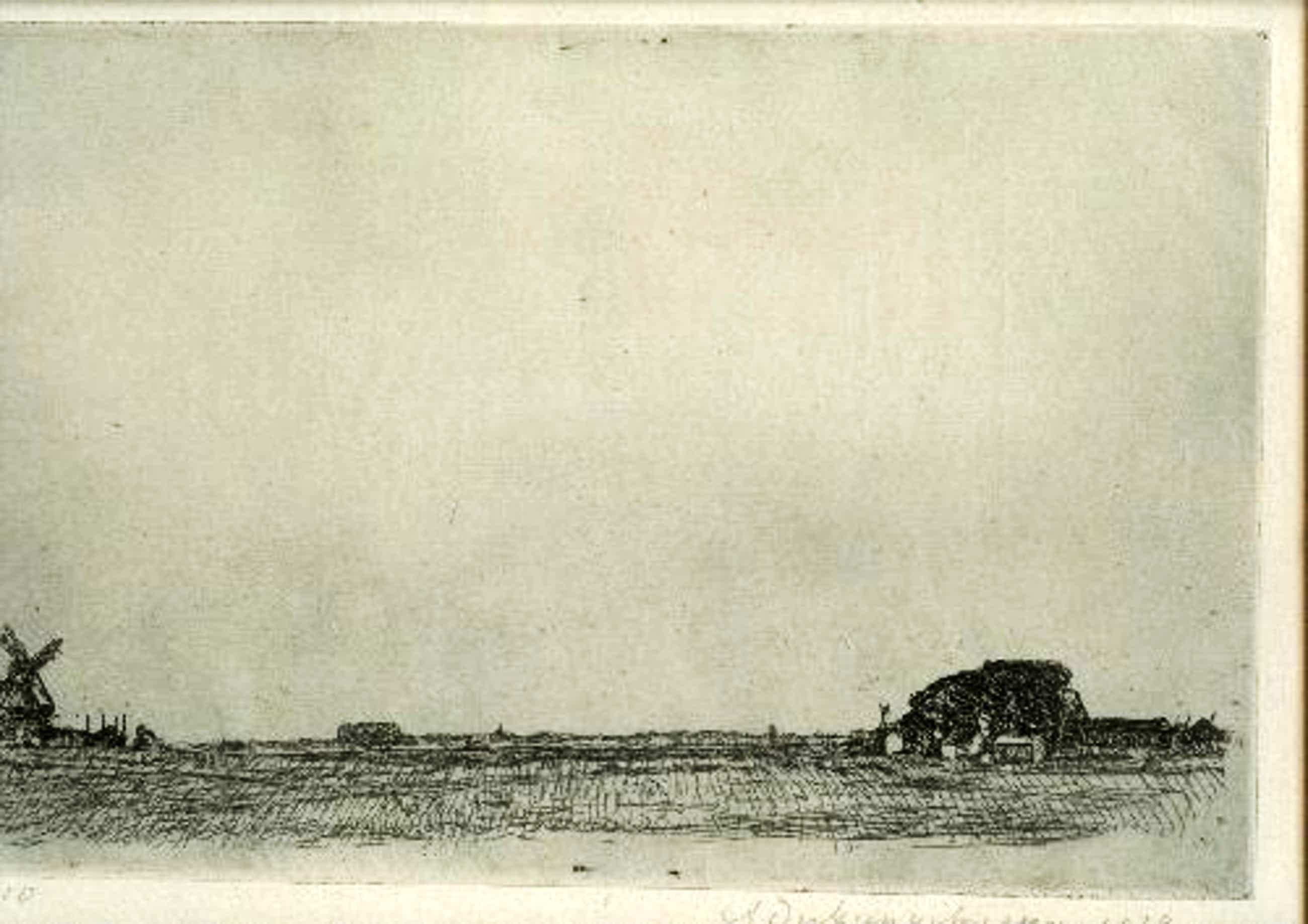 Antoon Derkzen van Angeren - Derkzen van Angeren Holländische Ebene sign.Radierung 1914 kopen? Bied vanaf 350!