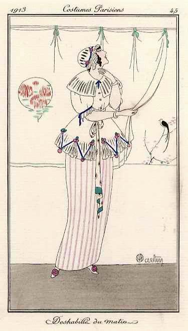 Charles Martin - DESHABILLÉ - COSTUME PARISIEN - Colorierte OriginalRadierung für GAZETTE du BON TON - 1913 signiert kopen? Bied vanaf 115!