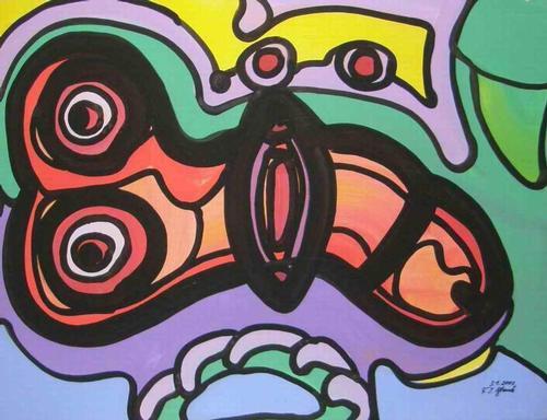 Franz J. Blank - DEUS PHALLI - Grosse POP-ART Acrylmalerei - Handsigniert 2003 (Extravaganza Florida - VISIONEN 2001) kopen? Bied vanaf 110!
