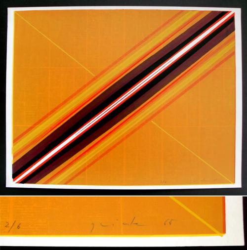 Lothar Quinte - Diagonaler Schlitz. Farbserigrafie, 1965. Aufl.: 6 Ex. kopen? Bied vanaf 530!