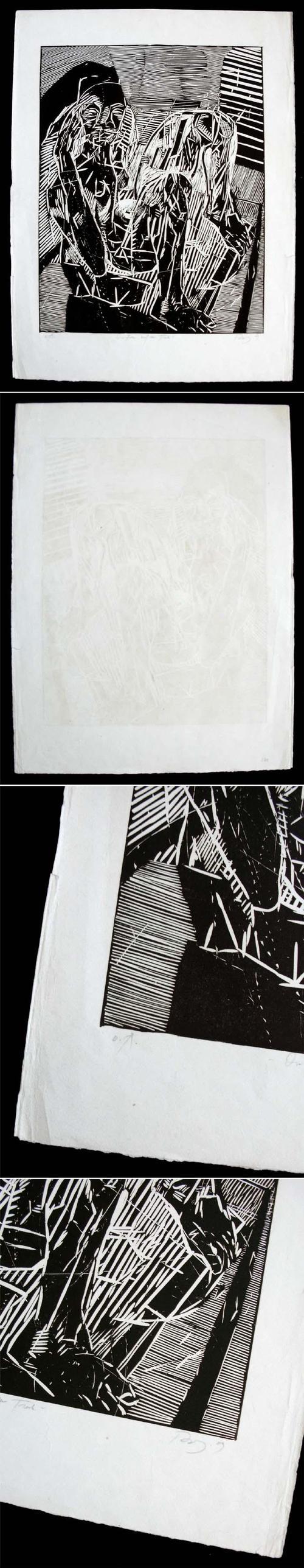 Thomas Rug - Die Frau auf dem Tisch. Linolschnitt, 1989. kopen? Bied vanaf 220!