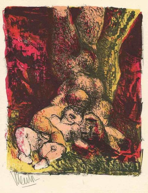 Blasco Mentor - Die GEBURT des LEBENS - 1963 Handsignierte OriginalLithographie des REPUBLIKANERs aus BARCELONA kopen? Bied vanaf 65!