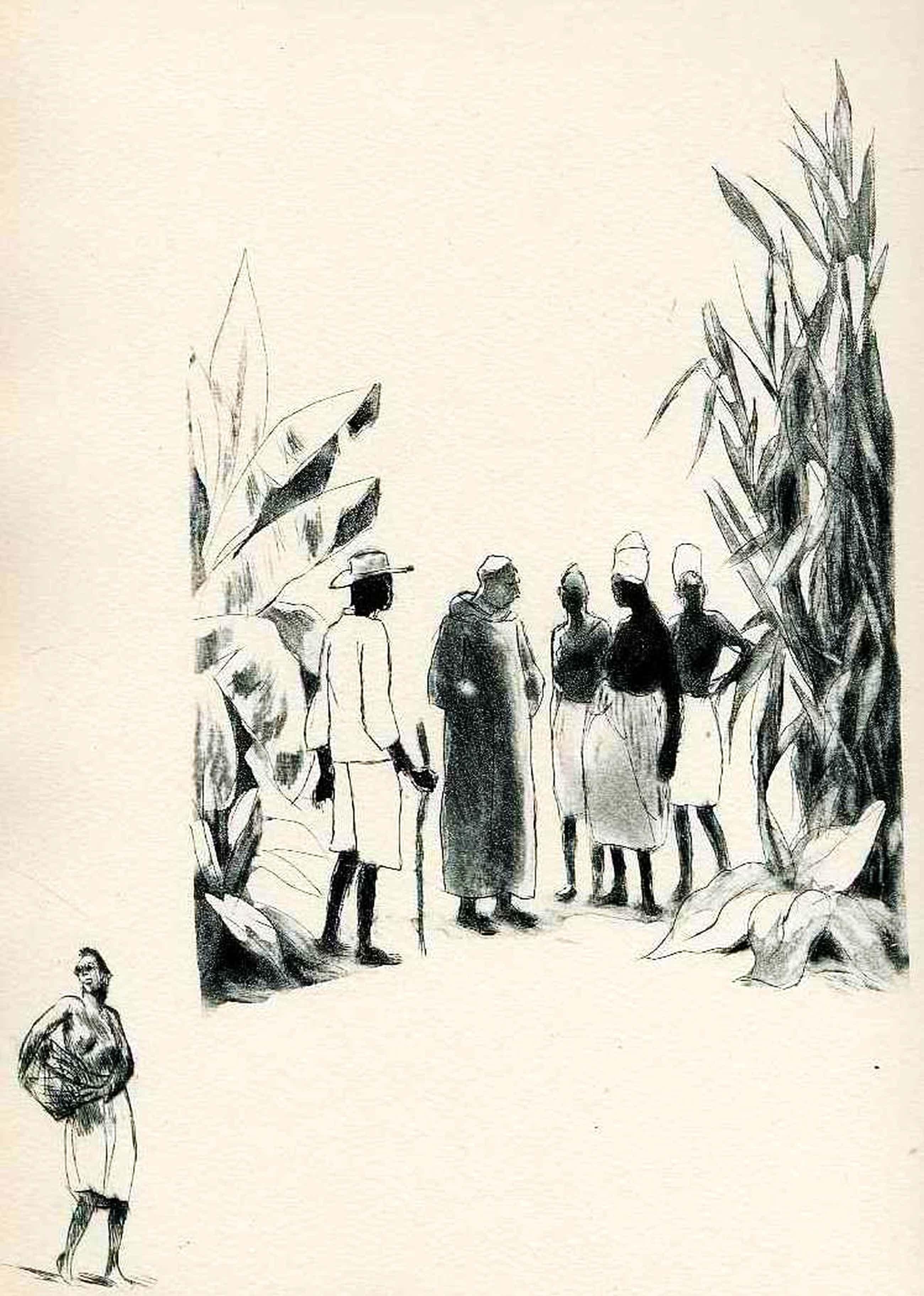 Charles Auguste Edelmann - Die Heissen Nächte im Cap 1936 - HAITI - 2 Kolonialerotische OriginalRadierungen zu Hugues REBELL kopen? Bied vanaf 32!