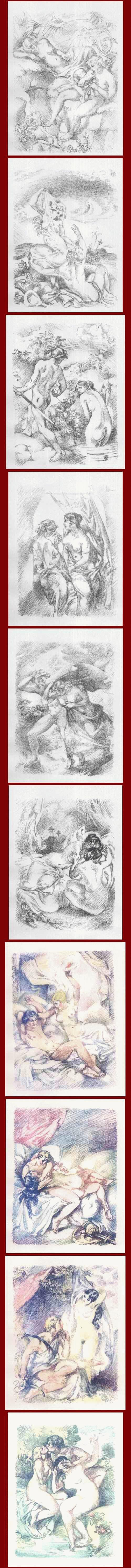 Bernhard Hasler - Die INDISCHE HARFE - 10 erotische Original-Lithographien des ORLIK u. CORINTH-Schülers - 1913 kopen? Bied vanaf 210!