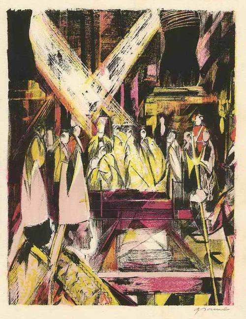 Emilio Grau-Sala - Die STATTHALTER GOTTES auf ERDEN 1963 Handsignierte OriginalLithographie des nach PARIS geflohenen kopen? Bied vanaf 65!