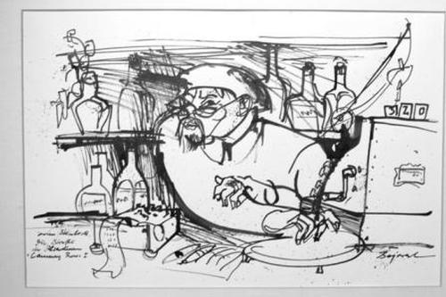 Archibald Bajorat - Die Straße der Ölsardinen - Cannery Row I zu Jon Steinbeck - Tuschezeichnung kopen? Bied vanaf 380!
