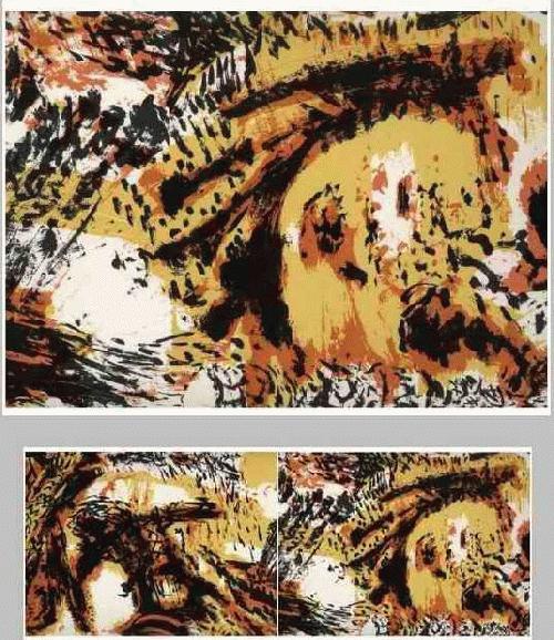 Jens Hanke - Diptychon KOMPOSITION OriginalSiebdruck des LEIPZIGers - handsigniert & datiert 1990 kopen? Bied vanaf 150!