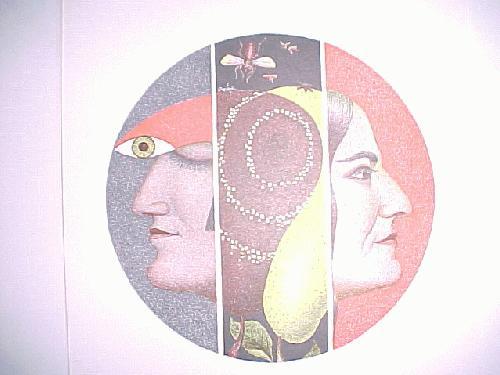 Fritz Genkinger - Doppelportrait, Farbsiebdruck,1970 mit Katalog kopen? Bied vanaf 40!