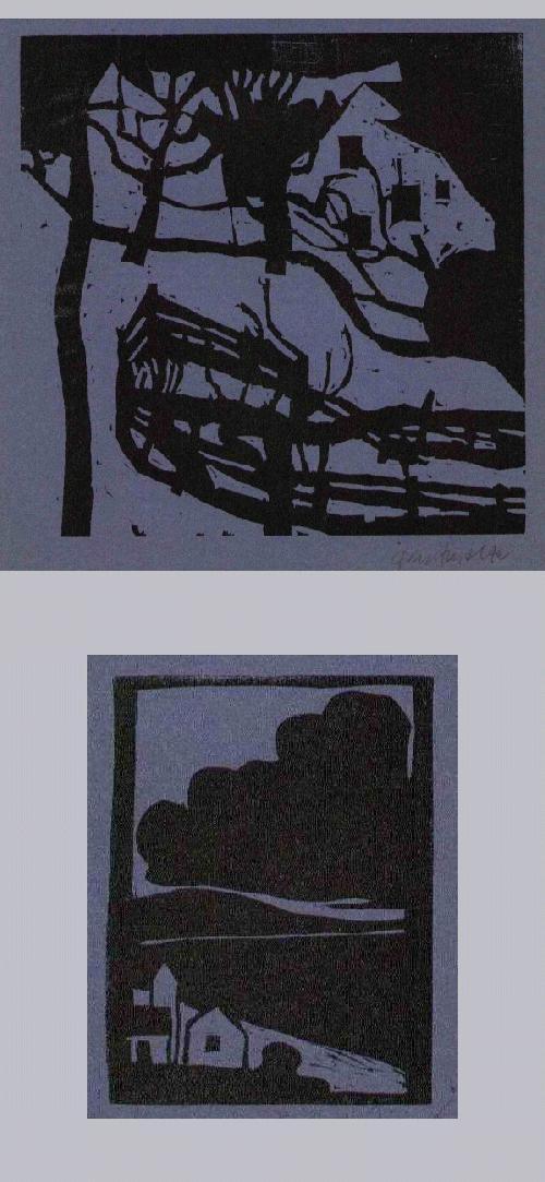 Bruno Gentinetta - DORFLANDSCHAFT - Handsignierter OriginalHolzschnitt des SCHWEIZERs aus Mettmenstetten (SPEKTRUM) kopen? Bied vanaf 48!