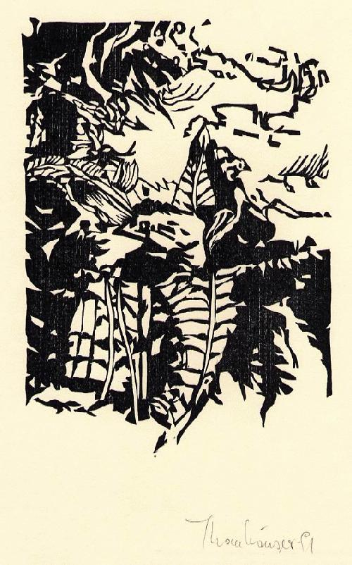 Christian Thanhäuser - DRÜBEN - OriginalHolzschnitt, handsigniert 1991 zu H.C.HARTMANN Poem kopen? Bied vanaf 29!