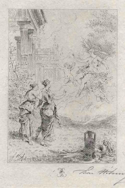 Edmond Hèdouin - EauForte originale signée au crayon - AMOR & LIEBESGOTTIN - Handsignierte OriginalRadierung kopen? Bied vanaf 39!