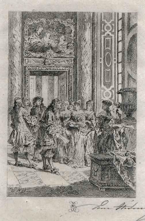 Edmond Hèdouin - EauForte signée au crayon - Handsignierte OriginalRadierung zu MOLIÈREs THEATER kopen? Bied vanaf 39!