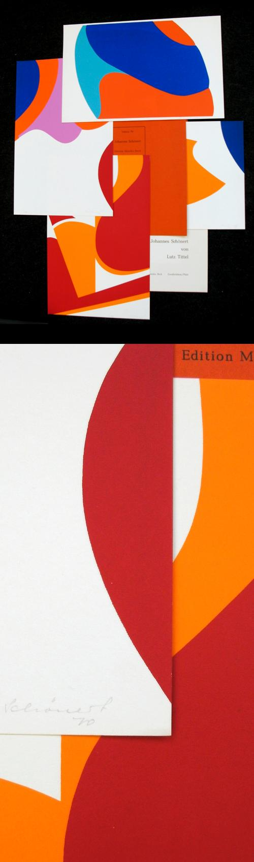 Johannes Schönert - Edition Monika Beck 70/7, 4 sign. Farbsiebdrucke. kopen? Bied vanaf 140!