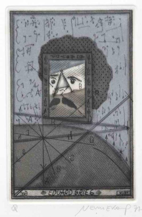 Johannes Vennekamp - Edouard GRIEG - 1977 Handsignierte OriginalRadierung des KONSTANTINOPEL geborenen RIXDORFERs(BERLIN) kopen? Bied vanaf 110!