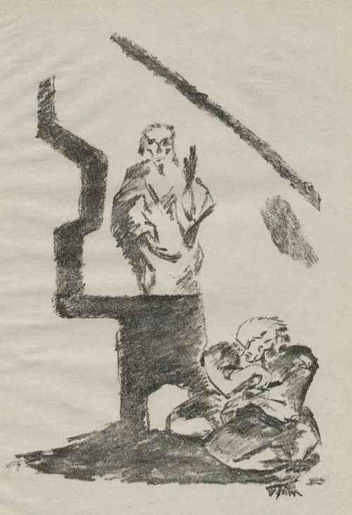 Willy Jaeckel - - Ein GESCHLECHT - OriginalKreideLithographie zu Fritz UNRUH-Theater 1918/19 a.der Mappe PHANTASIEN kopen? Bied vanaf 46!