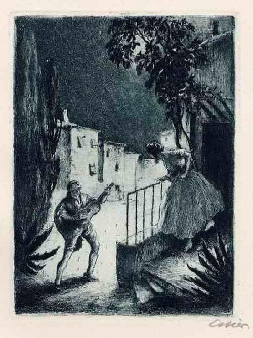 Erhard Amadeus Dier - Ein LIEBESLIED Handsignierte OriginalRadierung des WIENer Künstlers 1927 kopen? Bied vanaf 45!