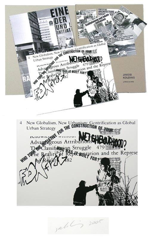 Jakob Kolding - Ein Siebdruck, ein Plakat und sechs Postkarten in Mappe von 2005, Siebdruck verso handsigniert kopen? Bied vanaf 75!